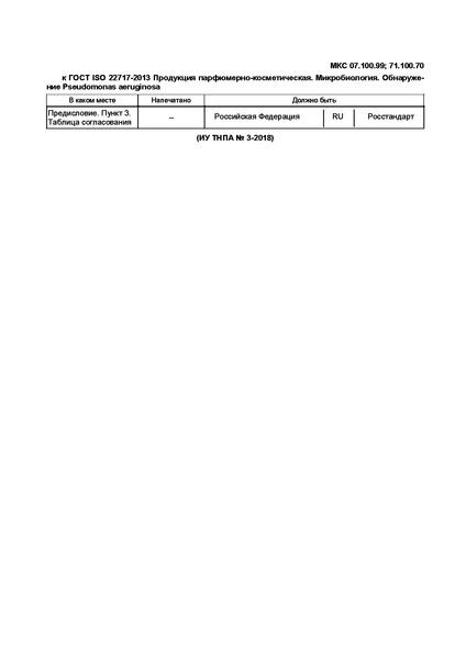 ГОСТ ISO 22717-2013 Продукция парфюмерно-косметическая. Микробиология. Обнаружение Pseudomonas aeruginosa