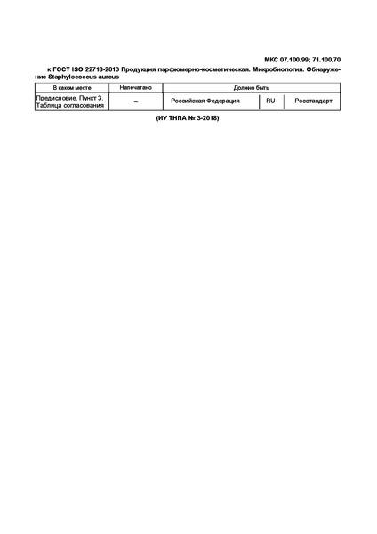 ГОСТ ISO 22718-2013 Продукция парфюмерно-косметическая. Микробиология. Обнаружение Staphylococcus aureus