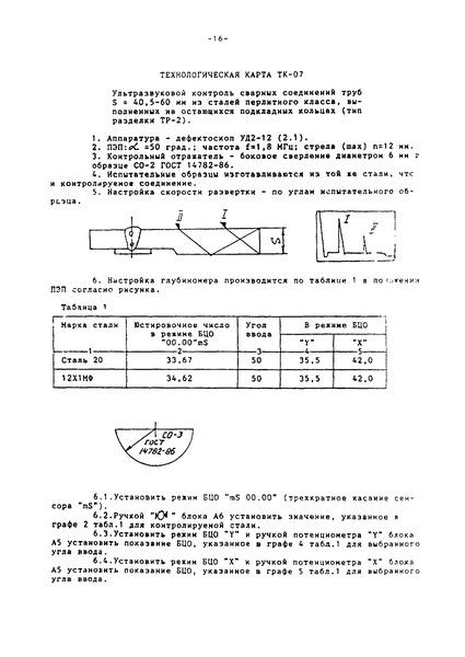 Технологическая карта ТК-07 Ультразвуковой контроль сварных соединений труб S = 40,5 - 60 мм из сталей перлитного класса, выполненных на остающихся подкладных кольцах (тип разделки ТР-2)
