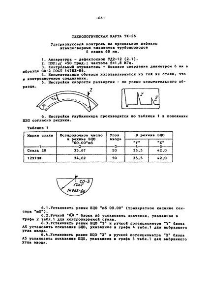 Технологическая карта ТК-26 Ультразвуковой контроль на продольные дефекты штампосварных элементов трубопроводов S свыше 60 мм