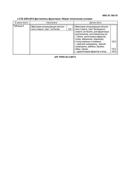СТБ 2354-2014 Дистилляты фруктовые. Общие технические условия