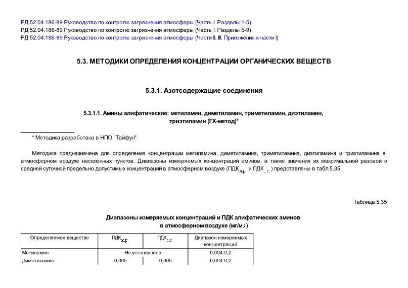 РД 52.04.186-89 Руководство по контролю загрязнения атмосферы (Часть I. Разделы 5-9)