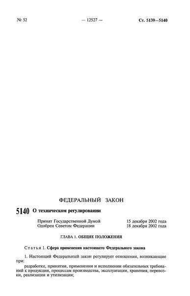 Федеральный закон 184-ФЗ О техническом регулировании