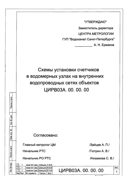 ЦИРВ 03А.00.00.00 Схемы
